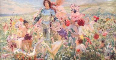 Le_Chevalier_aux_Fleurs_1894_Georges_Rochegrosse_1859_1938